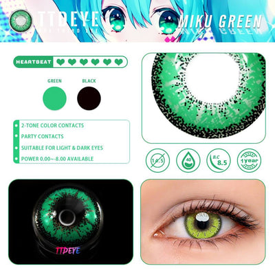 TTDeye Miku Green Colored Contact Lenses