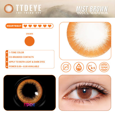 REAL x TTDeye Mist Brown Colored Contact Lenses