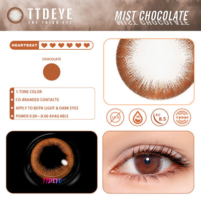 REAL x TTDeye Mist Chocolate Colored Contact Lenses