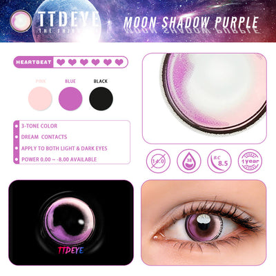 TTDeye Moon Shadow Purple Colored Contact Lenses