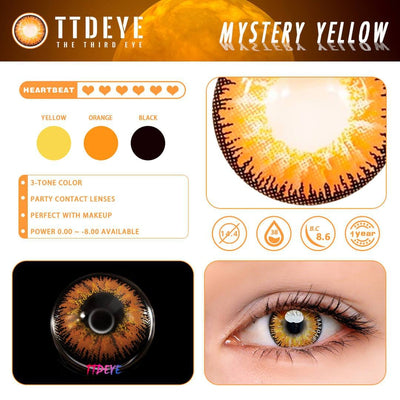 TTDeye Mystery Yellow Colored Contact Lenses