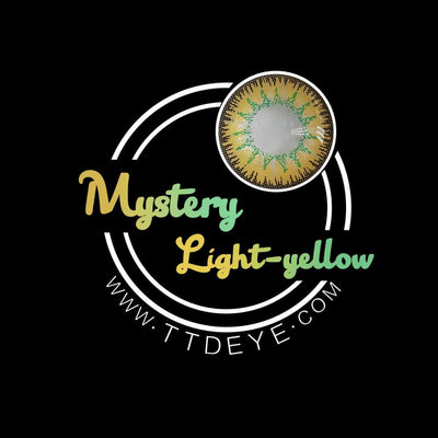 TTDeye Mystery Light Yellow Colored Contact Lenses