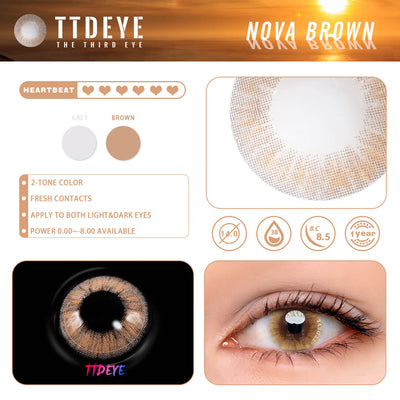 TTDeye Nova Brown Colored Contact Lenses