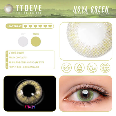 TTDeye Nova Green Colored Contact Lenses