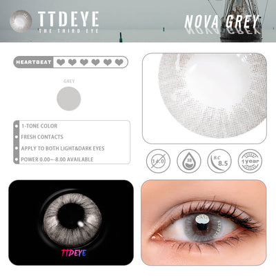 TTDeye Nova Grey Colored Contact Lenses