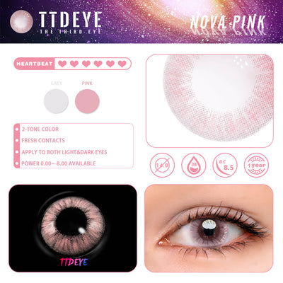 TTDeye Nova Pink Colored Contact Lenses