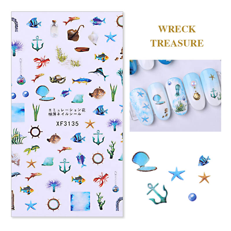 TTDeye Ocean Legend Nail Stickers