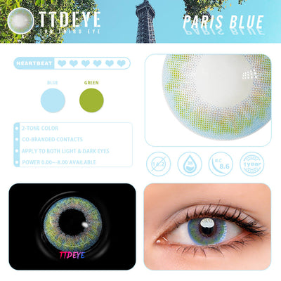 REAL x TTDeye Paris Blue Colored Contact Lenses