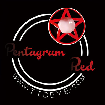 TTDeye Pentagram Red Colored Contact Lenses