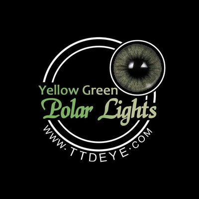 TTDeye Polar Lights Yellow-Green Colored Contact Lenses