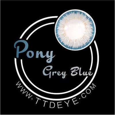 TTDeye Pony Grey-Blue Colored Contact Lenses