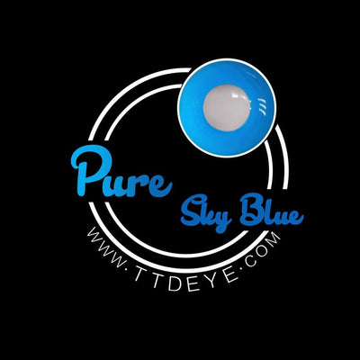 TTDeye Pure Sky Blue Colored Contact Lenses
