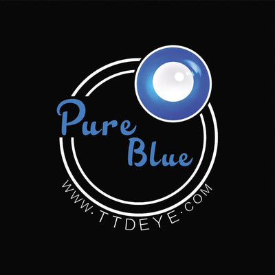TTDeye Pure Blue Colored Contact Lenses