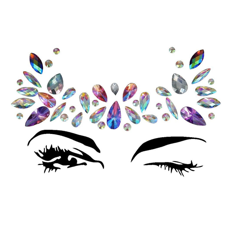 Queen Rhinestone Crystal Face Jewels