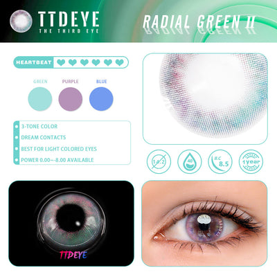 TTDeye Radial Green II Colored Contact Lenses