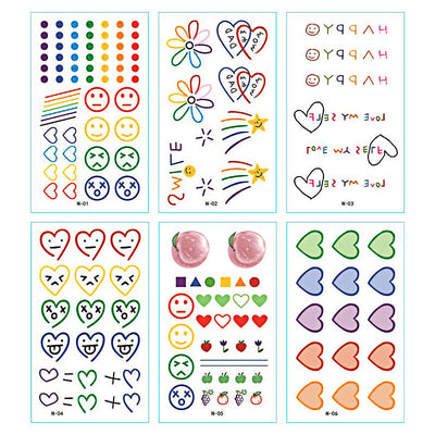 TTDeye Rainbow Neon 30 Piece Tattoo Stickers