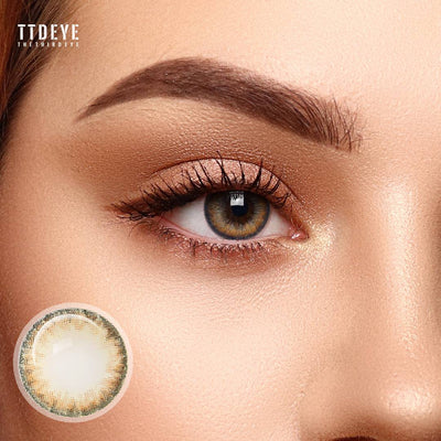 TTDeye Real Caramel Colored Contact Lenses