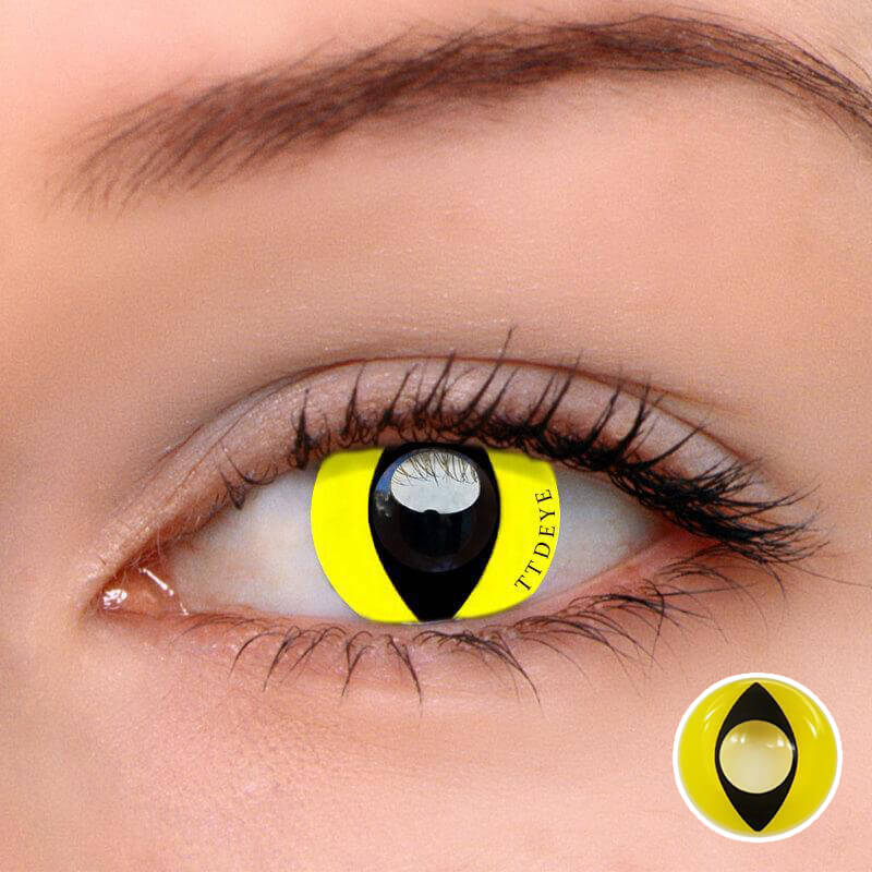 TTDeye Reptile Glow Colored Contact Lenses