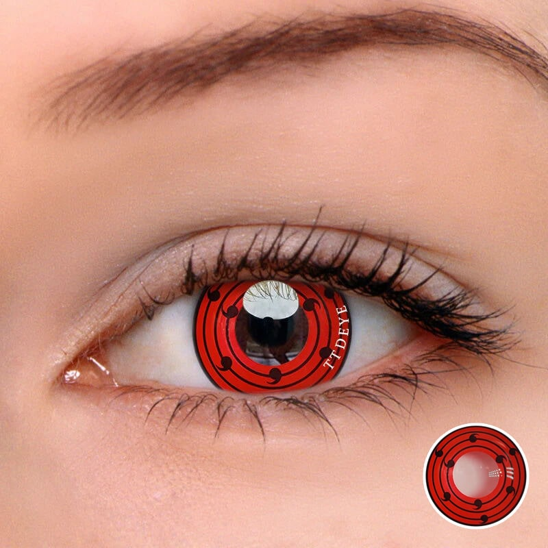 TTDeye Rinne Sharingan Red Colored Contact Lenses