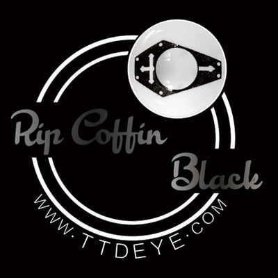 TTDeye Rip Coffin Black Colored Contact Lenses