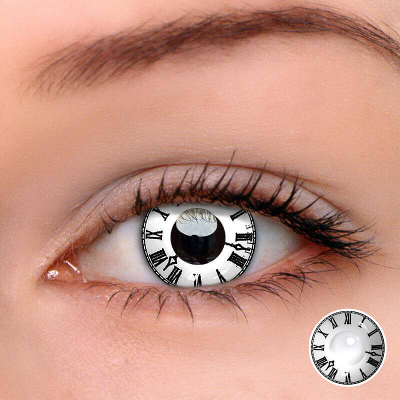 TTDeye Roman Clock White Colored Contact Lenses