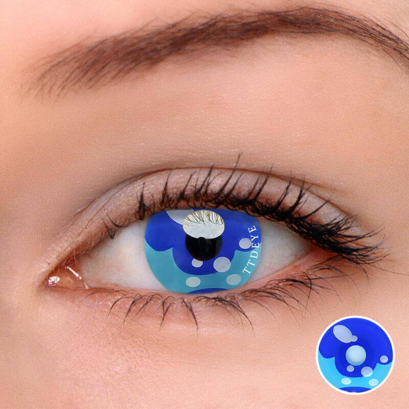 TTDeye Sailor Moon Blue Colored Contact Lenses