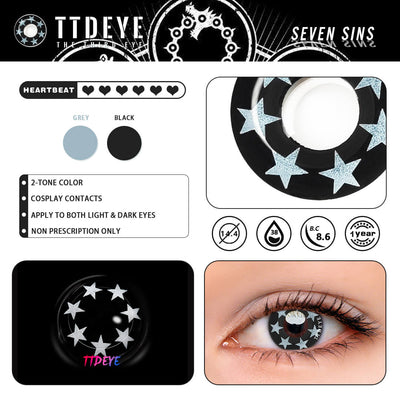 TTDeye Seven Sins Colored Contact Lenses