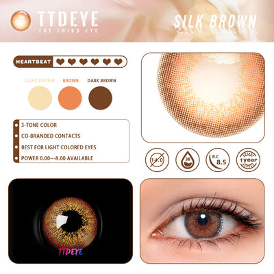 REAL x TTDeye Silk Brown Colored Contact Lenses
