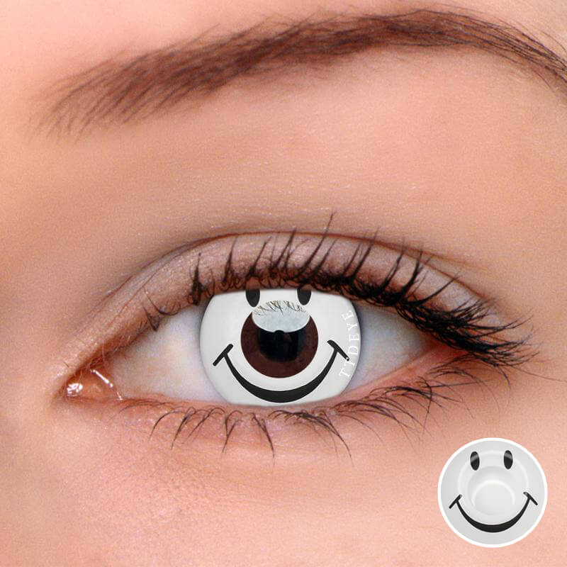 TTDeye Smiley White Colored Contact Lenses