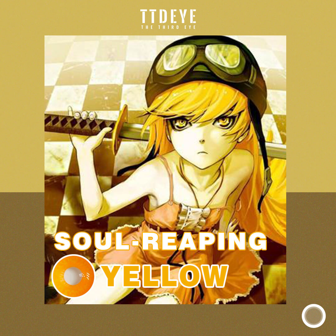 TTDeye Soul Reaping Yellow Colored Contact Lenses