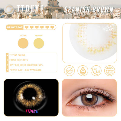 TTDeye Spanish Brown Colored Contact Lenses