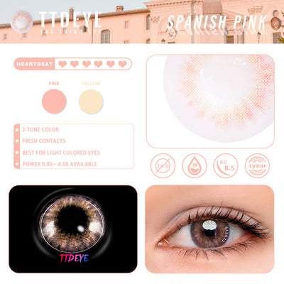 TTDeye Spanish Pink Colored Contact Lenses