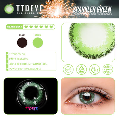 TTDeye Sparkler Green Colored Contact Lenses