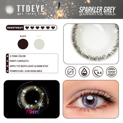 TTDeye Sparkler Grey Colored Contact Lenses