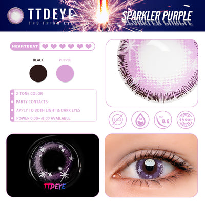 TTDeye Sparkler Purple Colored Contact Lenses