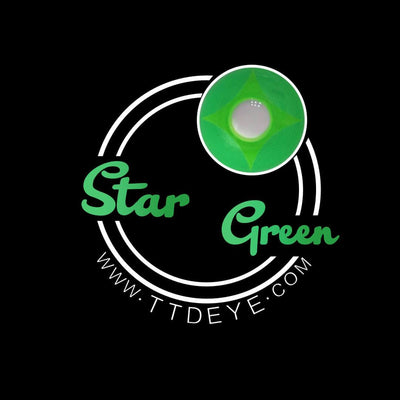 TTDeye Star Green Colored Contact Lenses