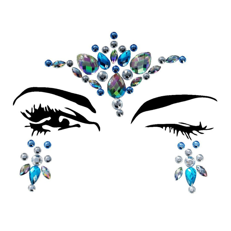 Star Rhinestone Crystal Face Jewels