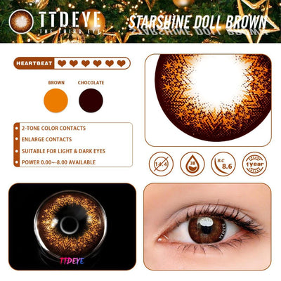 TTDeye Starshine Doll Brown Colored Contact Lenses