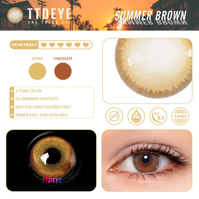 REAL x TTDeye Summer Brown Colored Contact Lenses
