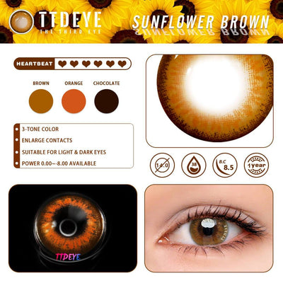 TTDeye Sunflower Brown Colored Contact Lenses