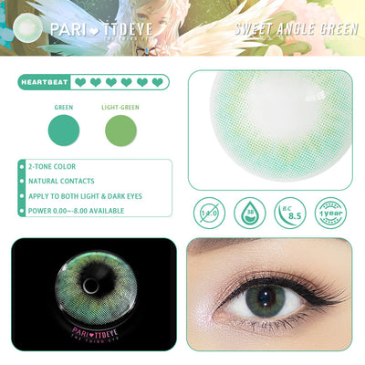 Pari x TTDeye Sweet Angel Green Colored Contact Lenses