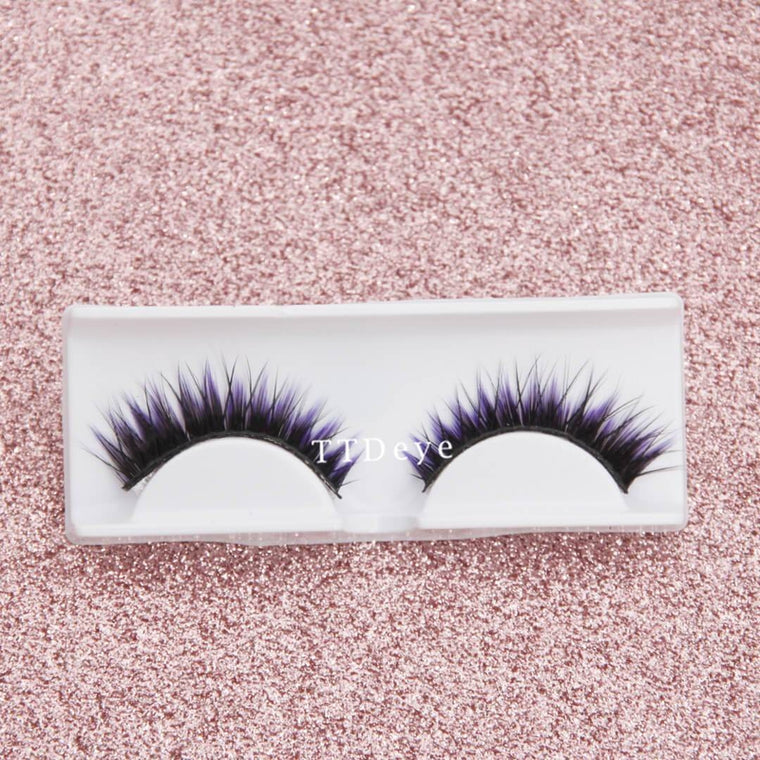 TTDeye 3D Purple False Eyelashes
