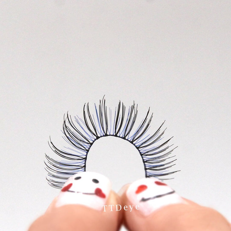 TTDeye Black-Blue False Eyelashes