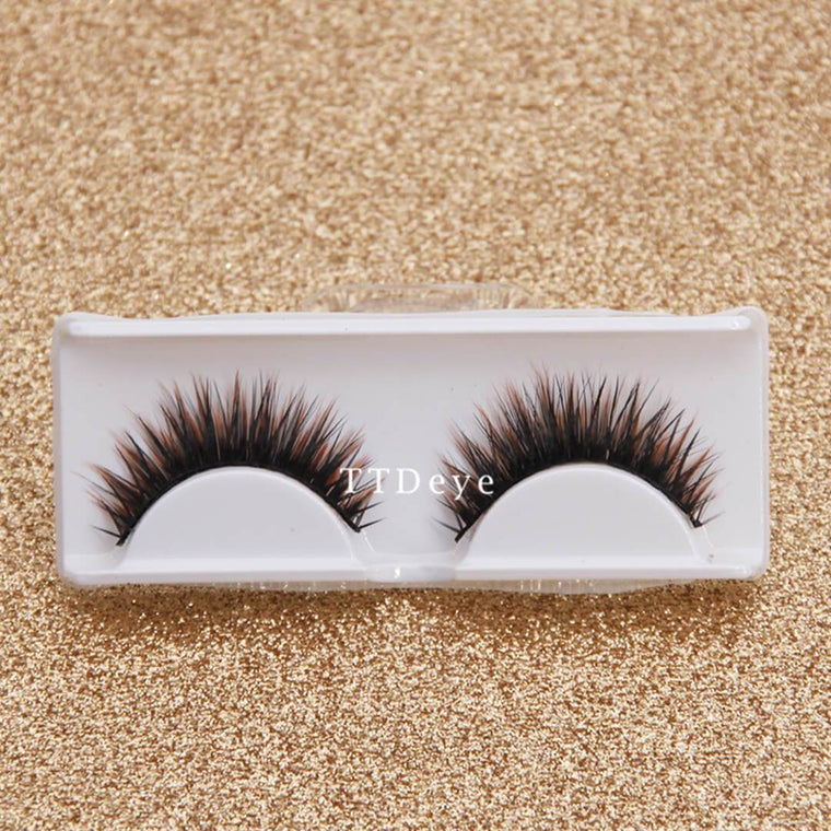 TTDeye Coffee Brown False Eyelashes