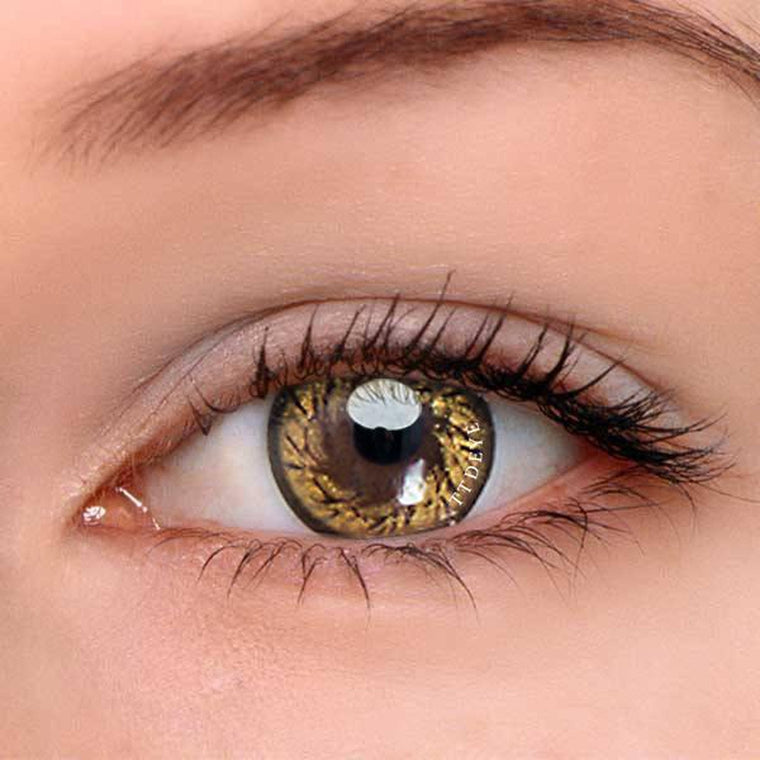 TTDeye Gold Angel Wing Colored Contact Lenses