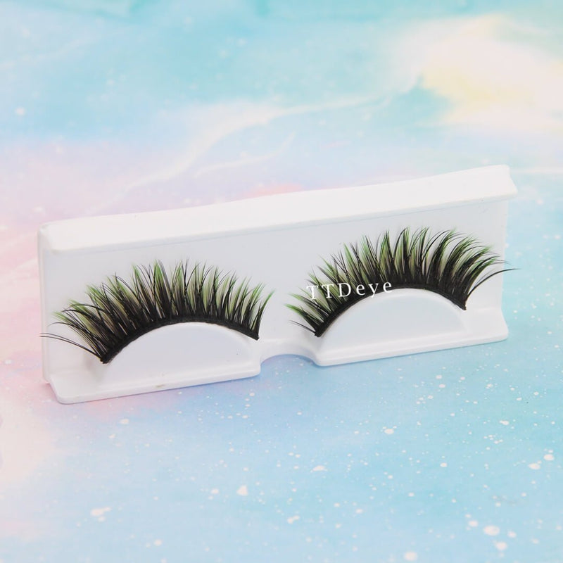 TTDeye Gradient Green False Eyelashes