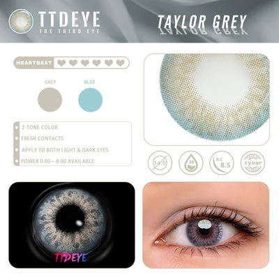 TTDeye Taylor Grey Colored Contact Lenses