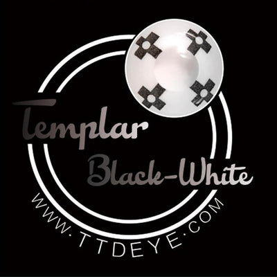 TTDeye Templar Black-White Colored Contact Lenses