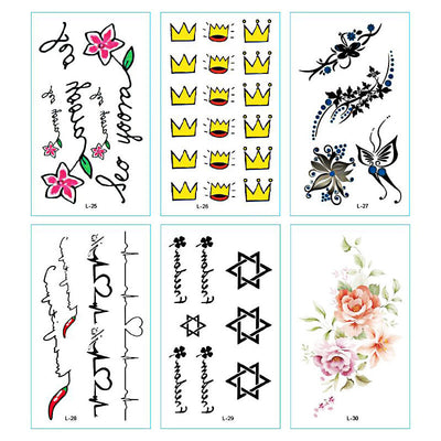 TTDeye Thorny Rose 30 Piece Tattoo Stickers