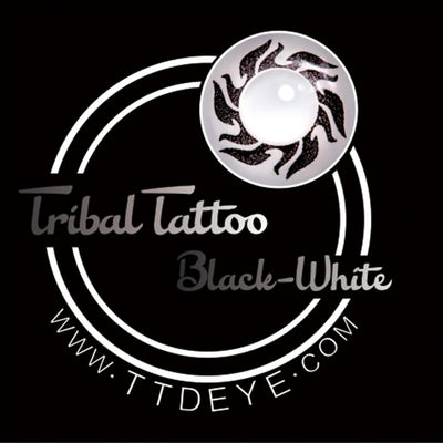 TTDeye Tribal Black-White Colored Contact Lenses